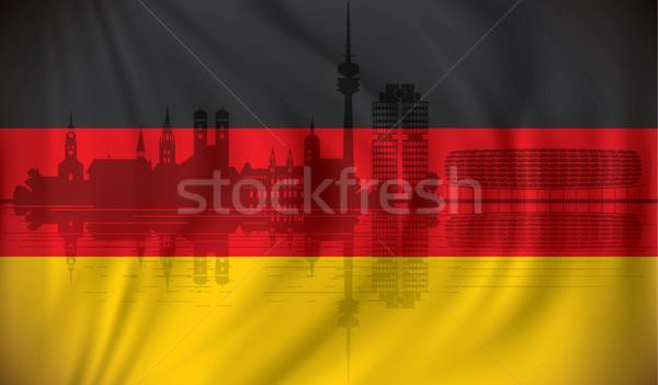Bandeira linha do horizonte textura cidade projeto fundo Foto stock © ojal