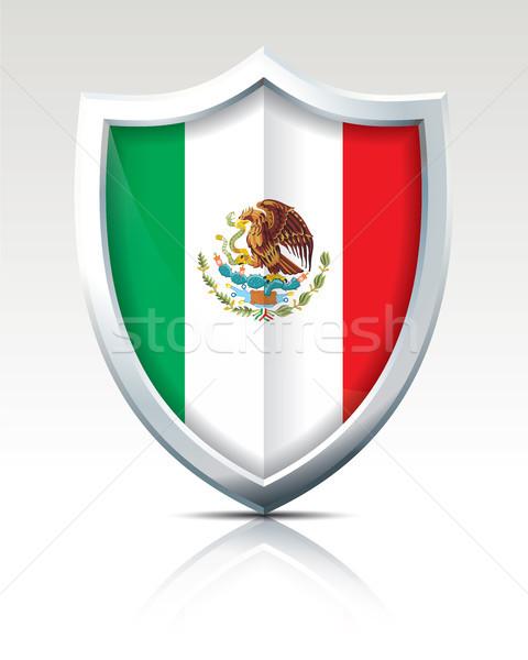 Escudo bandeira México textura mapa mundo Foto stock © ojal