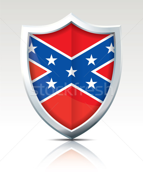 Shield with Flag of Confederate Stock photo © ojal