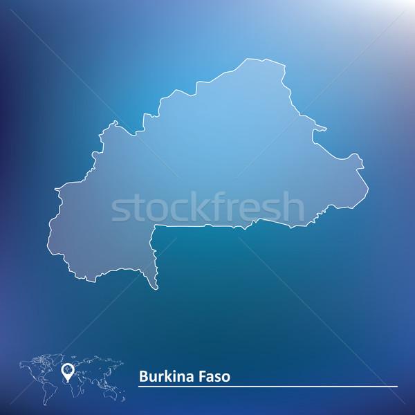 Map of Burkina Faso Stock photo © ojal