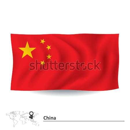 Bayrak Çin doku harita toprak renk Stok fotoğraf © ojal