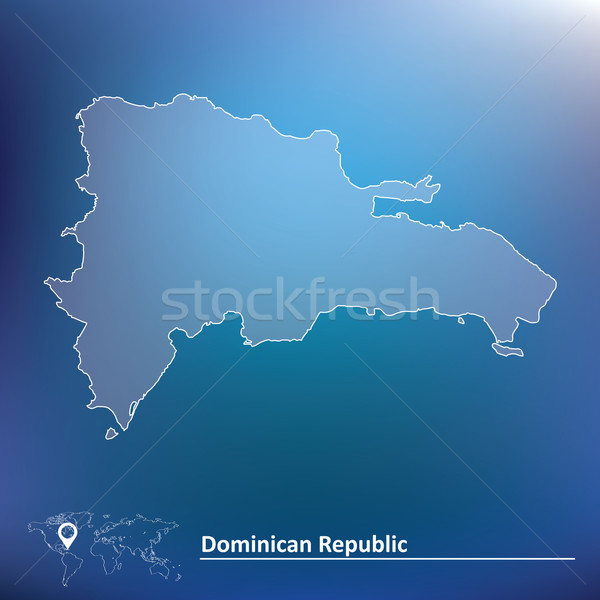 Map of Dominican Republic Stock photo © ojal