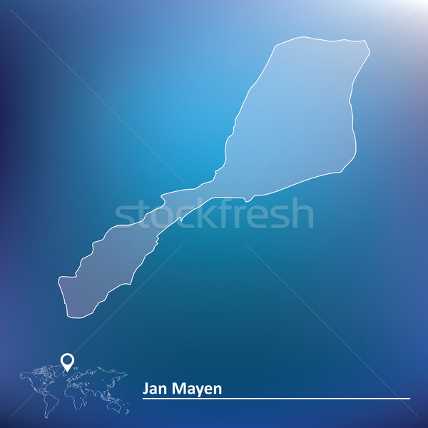 Map of Jan Mayen Stock photo © ojal