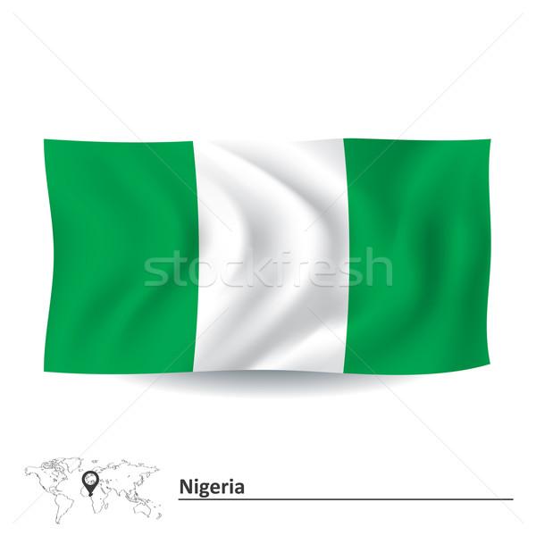 Bayrak Nijerya doku dizayn yeşil Afrika Stok fotoğraf © ojal