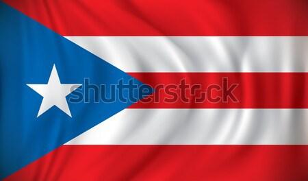Vlag Puerto Rico Rood grafiek land profiel Stockfoto © ojal