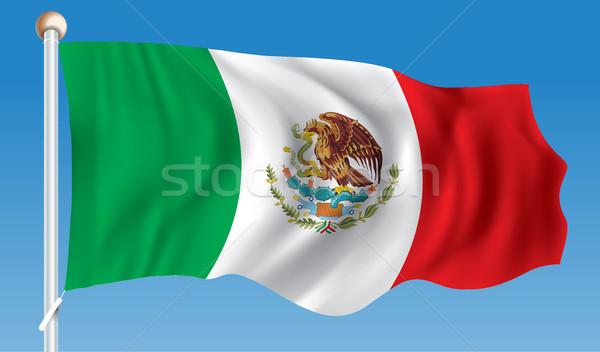 Bandiera Messico texture mappa design mondo Foto d'archivio © ojal