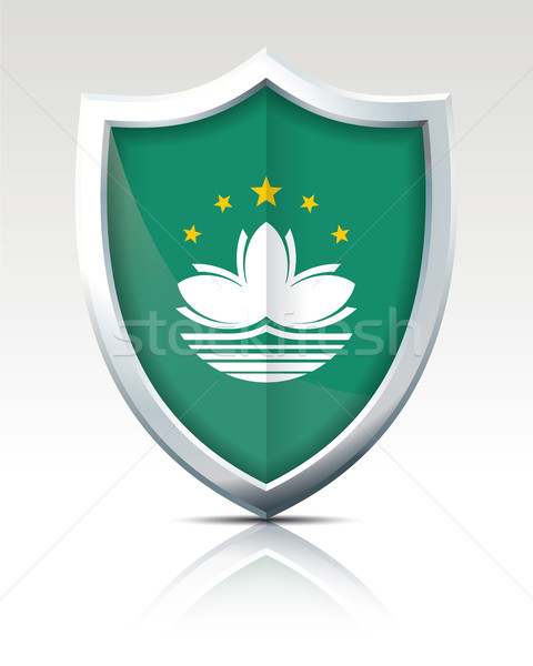 Shield with Flag of Macau Stock photo © ojal