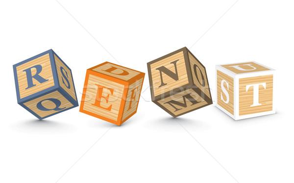 Palabra alquilar escrito alfabeto bloques negocios Foto stock © ojal