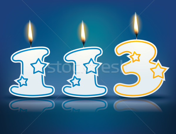Birthday candle number 113 Stock photo © ojal