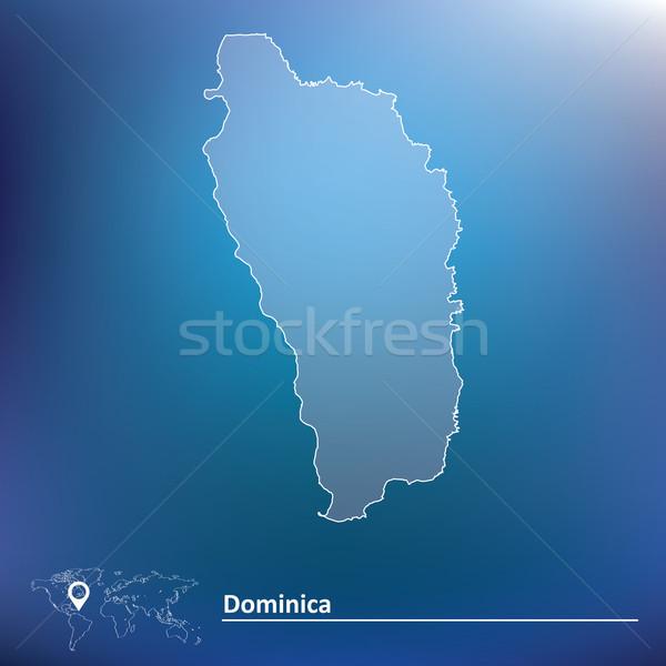 карта Доминика текстуры фон искусства флаг Сток-фото © ojal