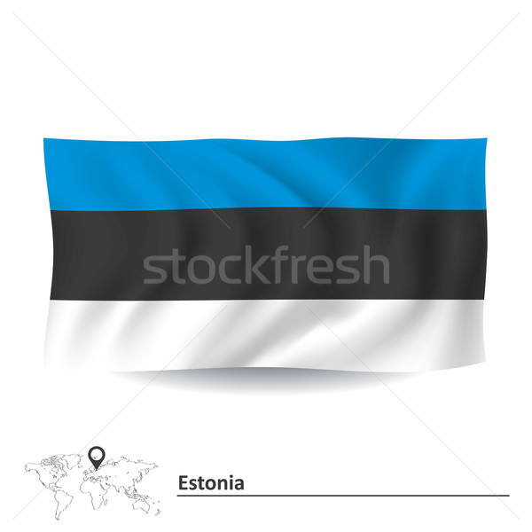Flag of Estonia Stock photo © ojal