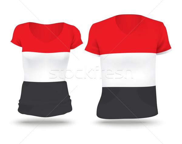 Flag shirt design of Yemen Stock photo © ojal