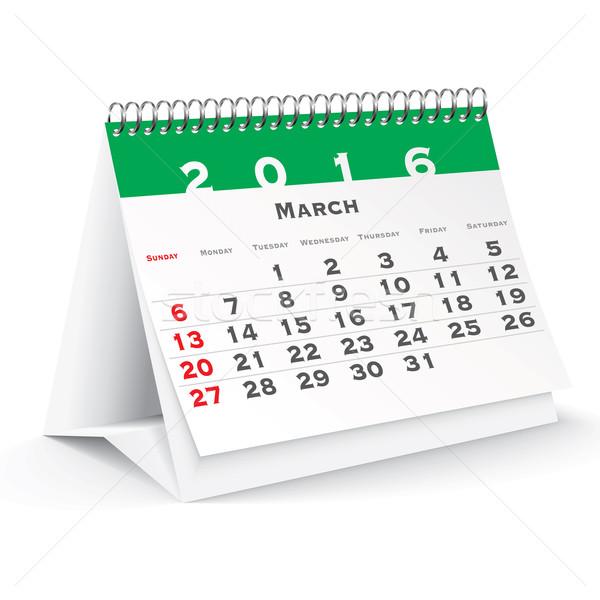 March 2016 desk calendar Stock photo © ojal
