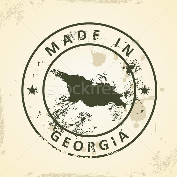 Sello mapa Georgia grunge cruz signo Foto stock © ojal