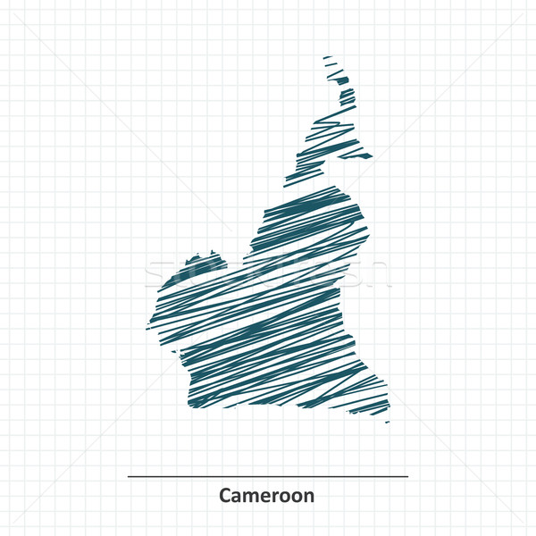 Doodle sketch of Cameroon map Stock photo © ojal