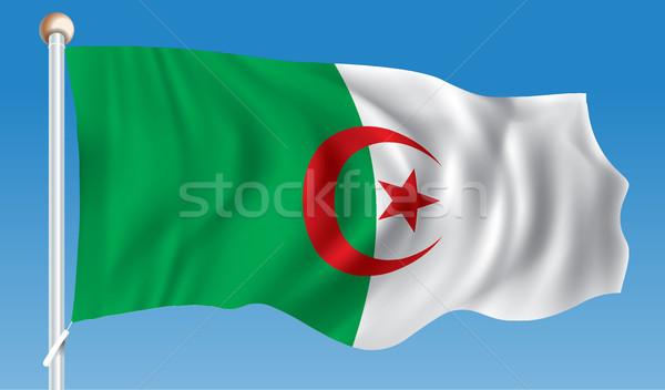 Pavillon Algérie carte résumé monde cadre Photo stock © ojal