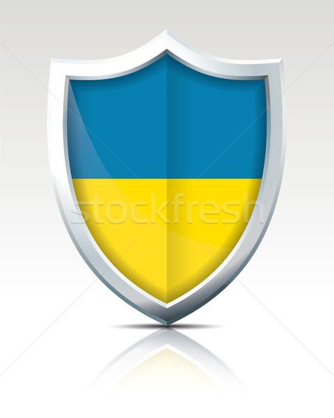 Escudo bandeira Ucrânia cidade mundo arte Foto stock © ojal
