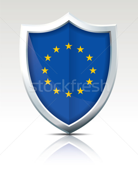Escudo bandeira europeu união abstrato mundo Foto stock © ojal