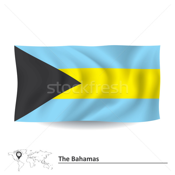 フラグ バハマ 世界中 地図 光 デザイン ストックフォト © ojal