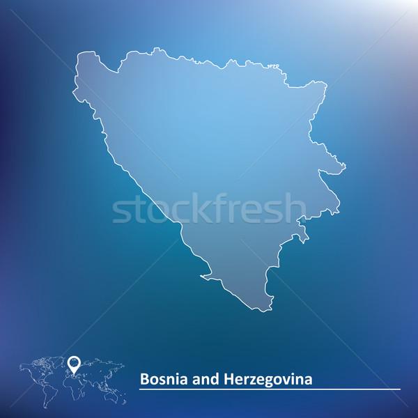 Map of Bosnia and Herzegovina Stock photo © ojal