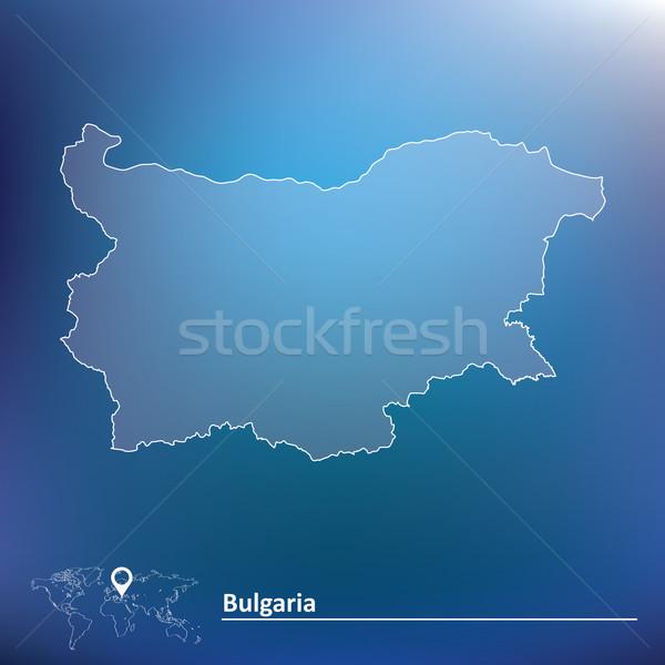 Kaart Bulgarije ontwerp wereld kunst vlag Stockfoto © ojal