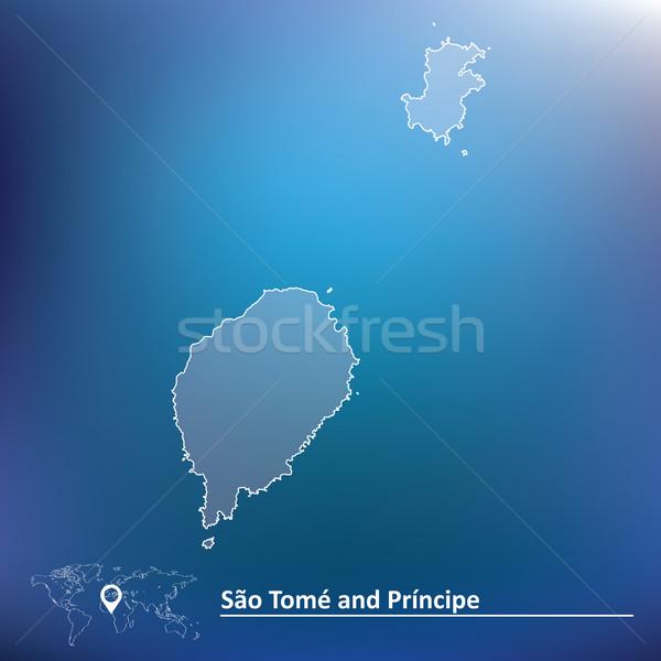 Map of Sao Tome and Principe Stock photo © ojal