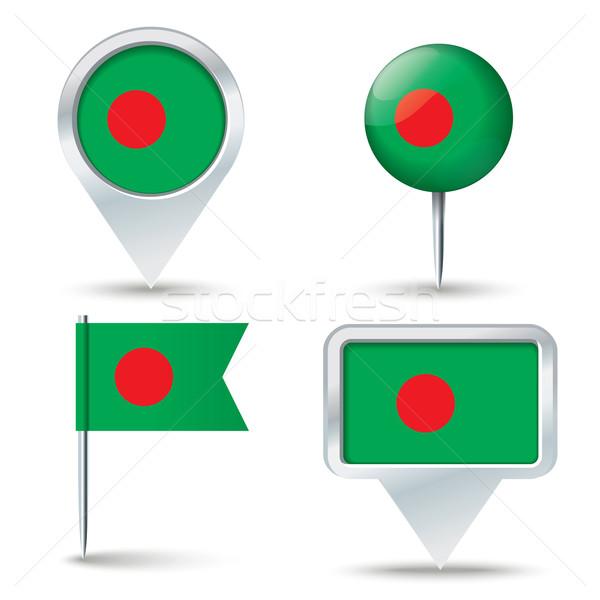 Mapa bandeira Bangladesh negócio estrada branco Foto stock © ojal