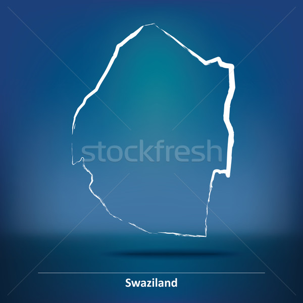 Gryzmolić Pokaż Suazi niebieski podróży Afryki Zdjęcia stock © ojal