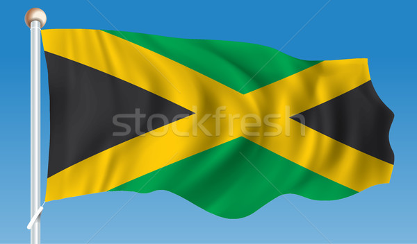 Flag of Jamaica Stock photo © ojal