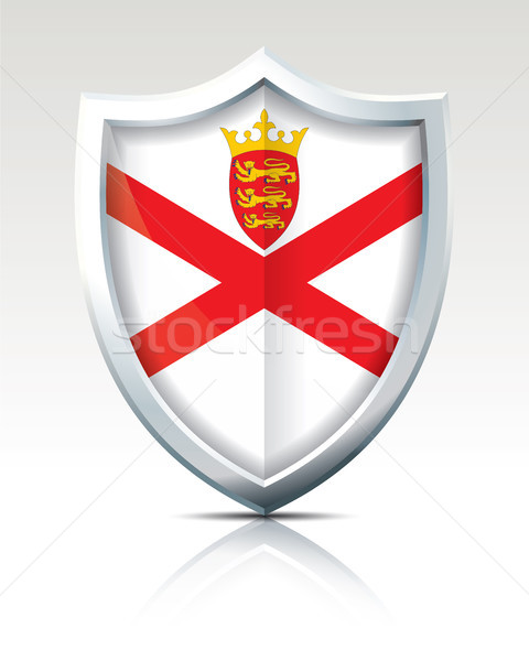 Shield with Flag of Jersey Stock photo © ojal