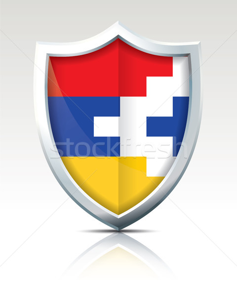 Shield with Flag of Nagorno-Karabakh Republic Stock photo © ojal