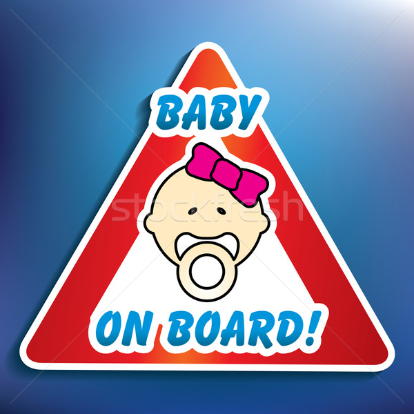 Baby on board sticker Stock photo © ojal