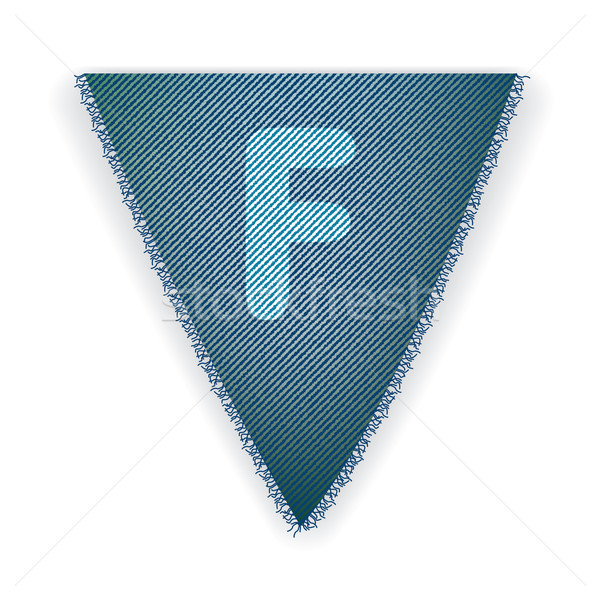 Bunting flag letter F Stock photo © ojal
