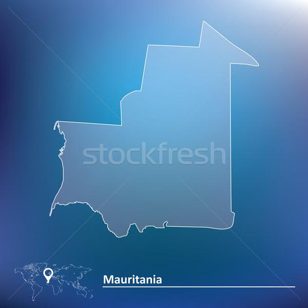 Map of Mauritania Stock photo © ojal