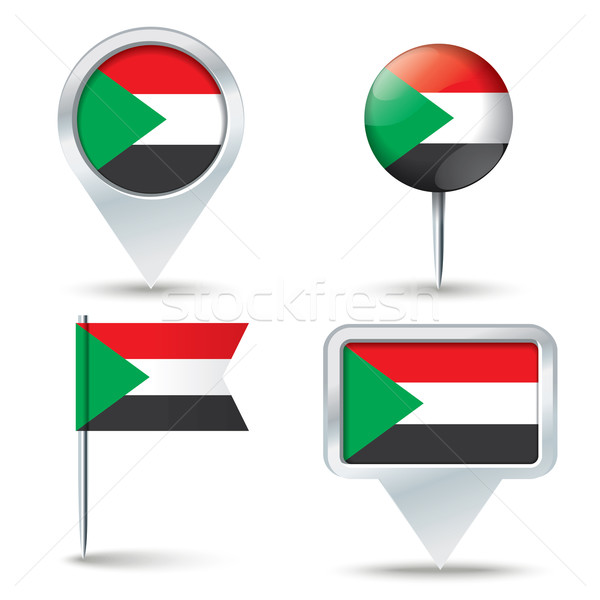 Kaart vlag Soedan business weg witte Stockfoto © ojal