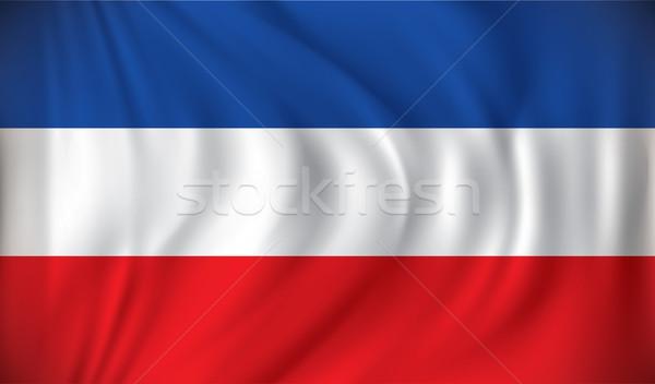 Bandera Serbia Montenegro diseno viento Europa Foto stock © ojal