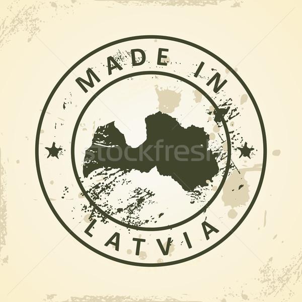 Stempel kaart Letland grunge textuur ontwerp Stockfoto © ojal