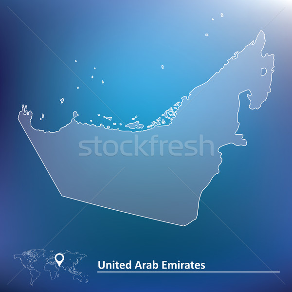 Mapa Emirados Árabes Unidos textura fundo vento país Foto stock © ojal