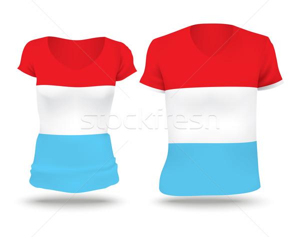 Vlag shirt ontwerp Luxemburg vrouw man Stockfoto © ojal