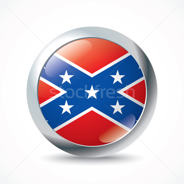 Confederate flag button Stock photo © ojal