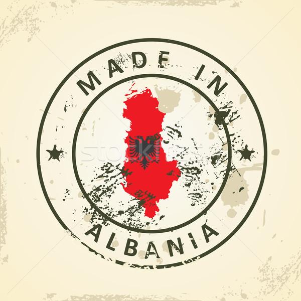 Sello mapa bandera Albania grunge naturaleza Foto stock © ojal