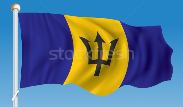 Bandeira Barbados textura mundo fundo arte Foto stock © ojal