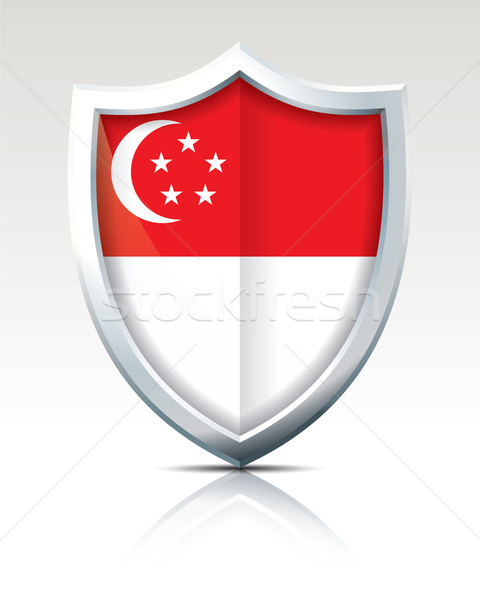 Shield with Flag of Singapore Stock photo © ojal