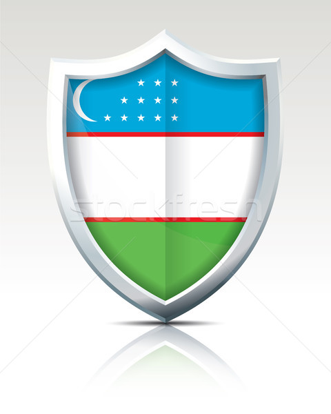 щит флаг Узбекистан карта дизайна Мир Сток-фото © ojal