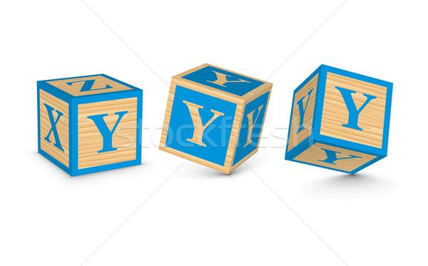 Vector letter Y wooden alphabet blocks Stock photo © ojal