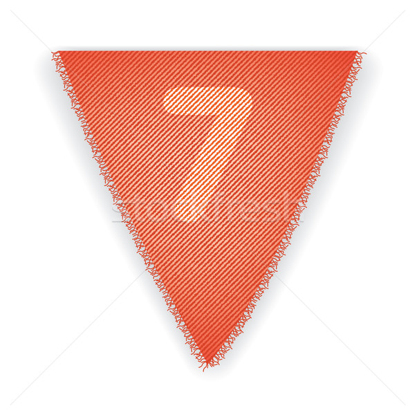 Stock photo: Bunting flag number 7
