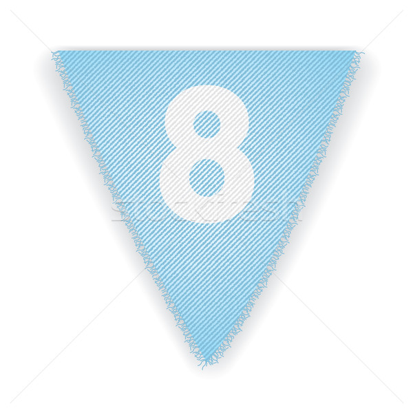 Bunting flag number 8 Stock photo © ojal