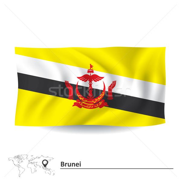 флаг Бруней текстуры Мир фон знак Сток-фото © ojal