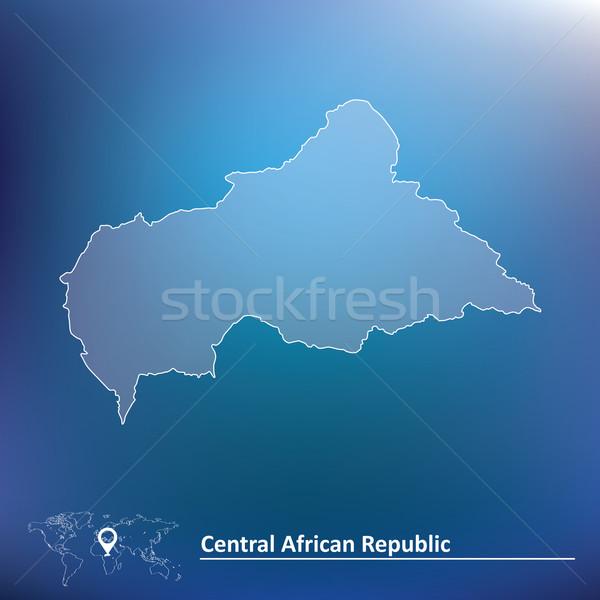 карта центральный африканских республика текстуры город Сток-фото © ojal