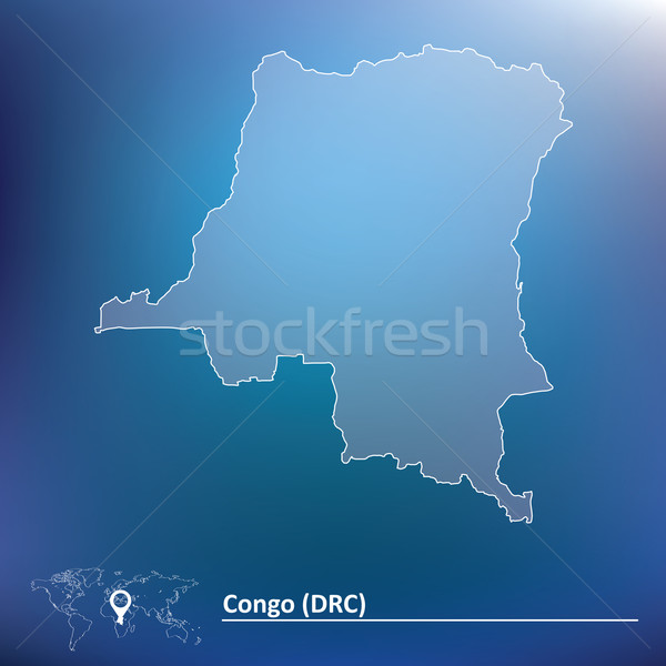 Map of Democratic Republic of the Congo Stock photo © ojal